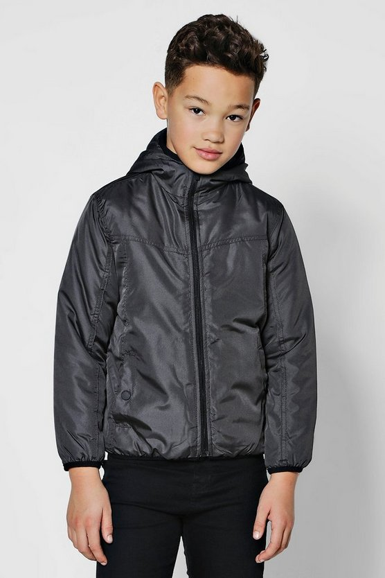 Boys Padded Hooded Zip Jacket