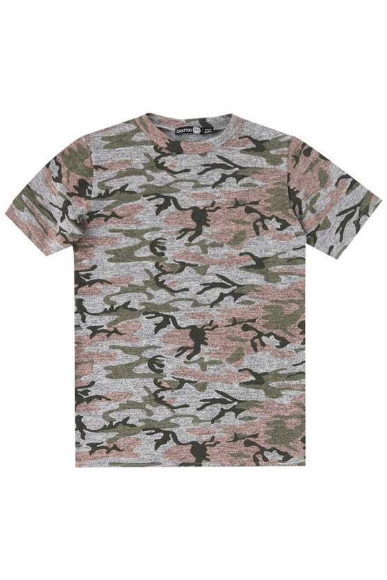Boys Washed Camo T-Shirt