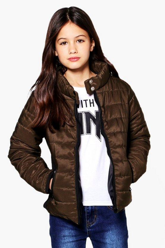 Girls Padded Contrast Coat