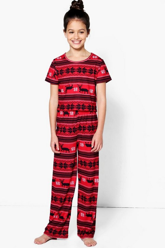 Girls Fairisle Nightwear Set