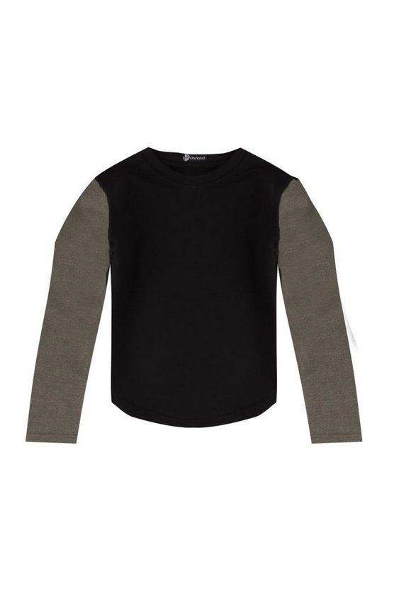 Boys Contrast Sleeve Sweat