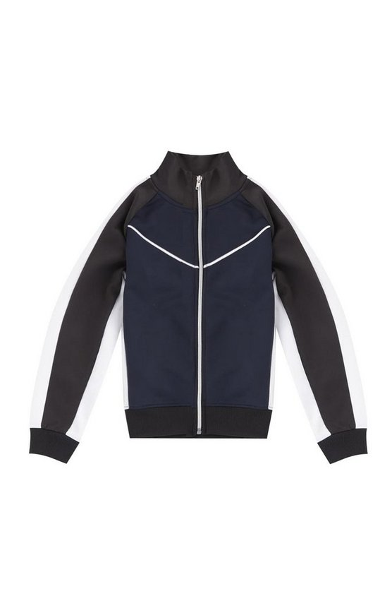Boys Colour Block Zip Jacket