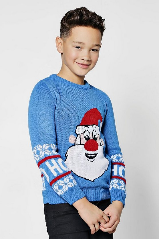 Boys Santa Christmas Jumper
