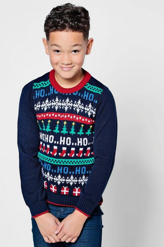 Boys All Over Christmas Jumper