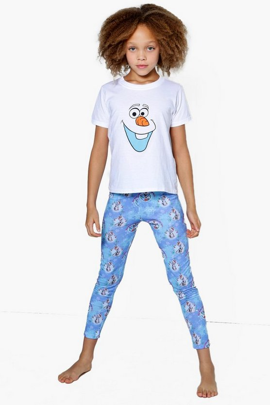 Girls Disney OLAF Tee + Legging Nightwear Set