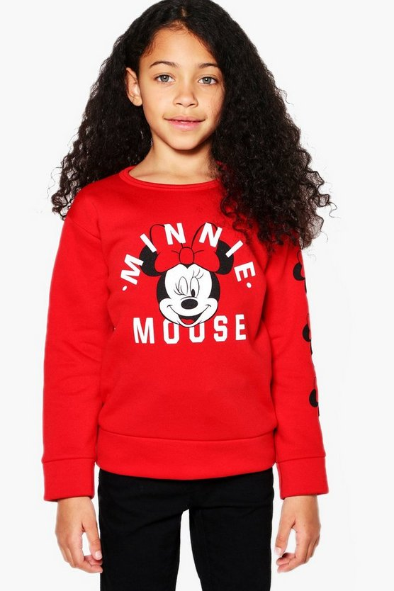Girls Disney Minnie Mouse Sweat