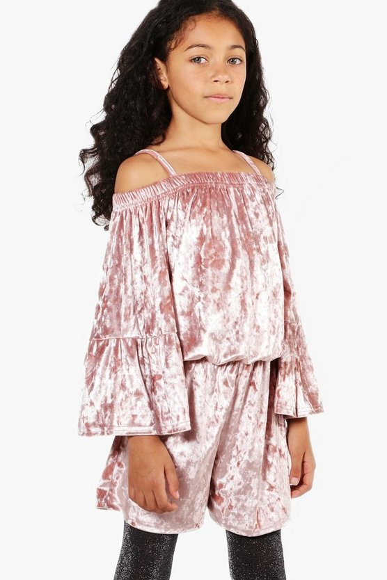 Girls Wide Sleeve Playsuit