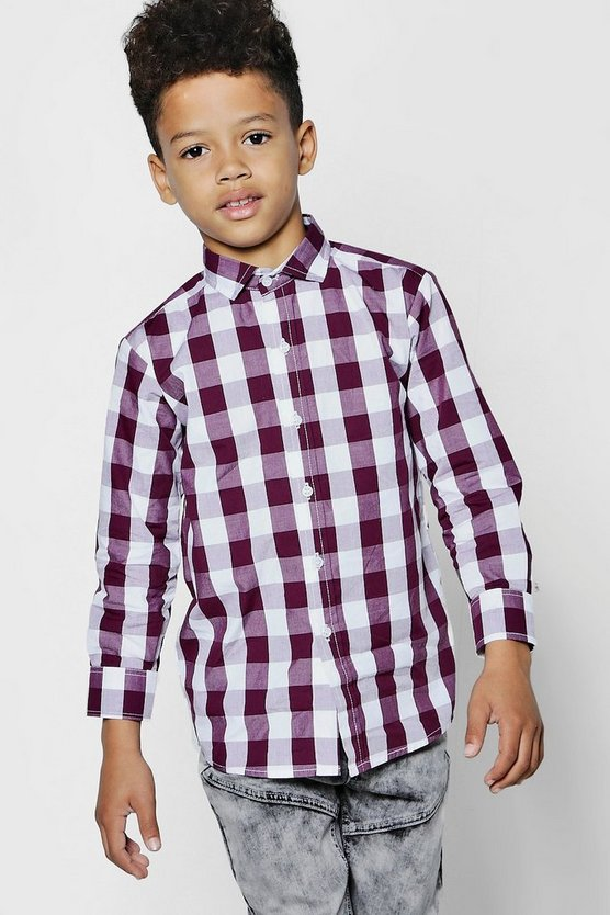 Boys Buffalo Check Long Sleeve Shirt