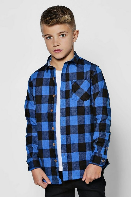 Boys Long Sleeve Buffalo Check Shirt