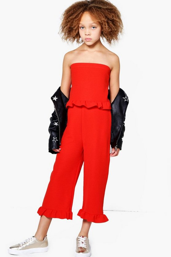 Girls Frill Front & Bottom Jumpsuit