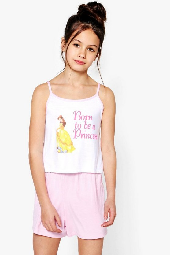 Girls Disney Born To Be A Princess Short Set