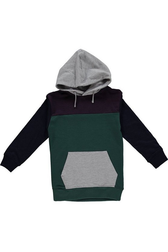 Boys Colour Block Hoodie