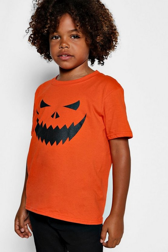 Boys Halloween Pumpkin T-Shirt