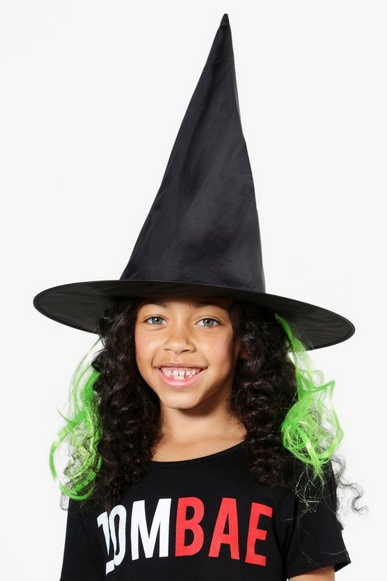 Girls Witch Hat With Hair