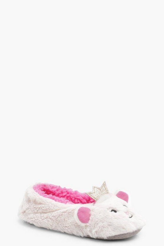 Girls Cat Crown Ballet Slipper