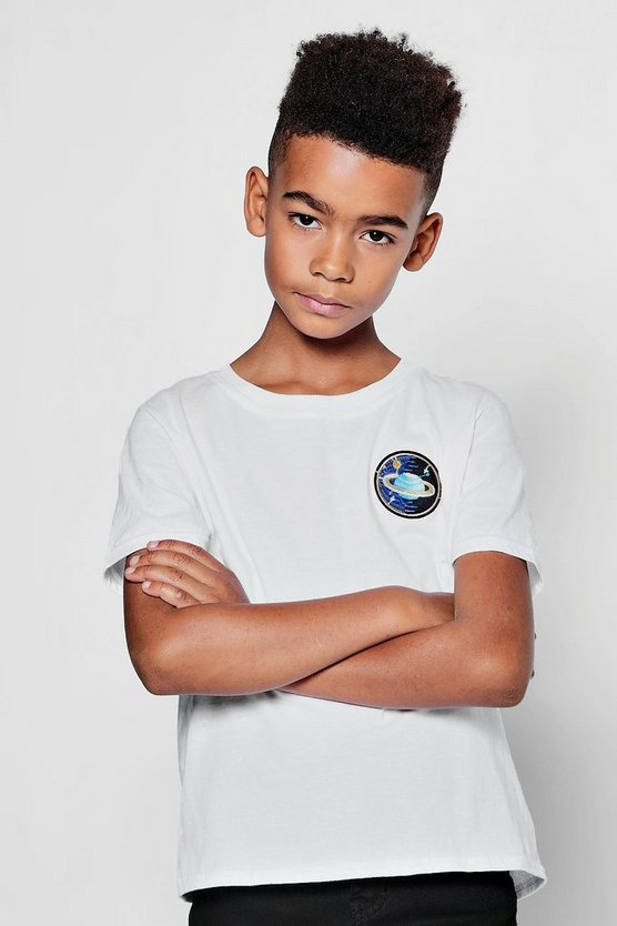 Boys Planet Emblem Embroidered T-Shirt