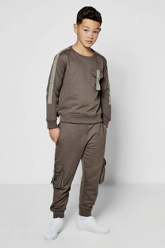 Boys Buckle Pocket Detail Tracksuit