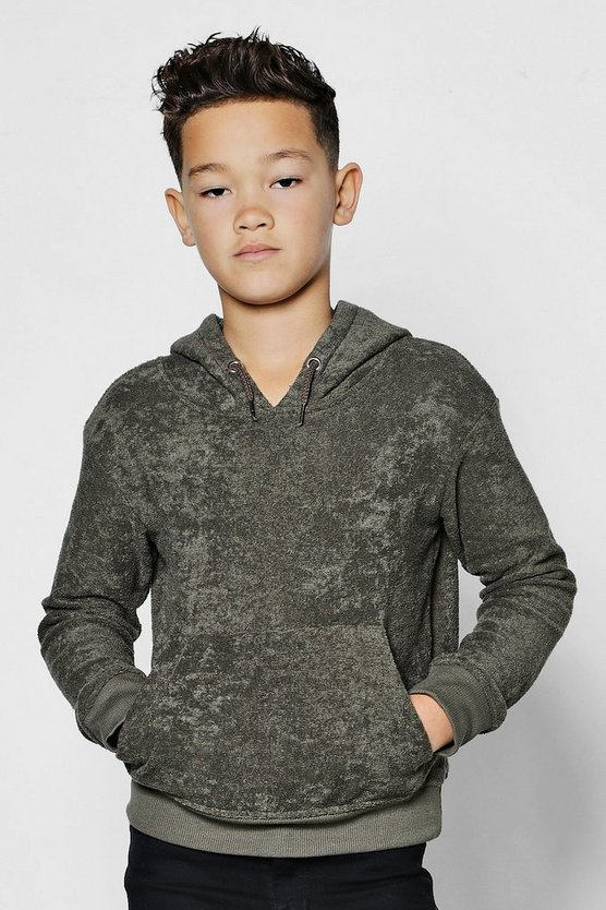 Boys Towelling Over The Head Hoodie