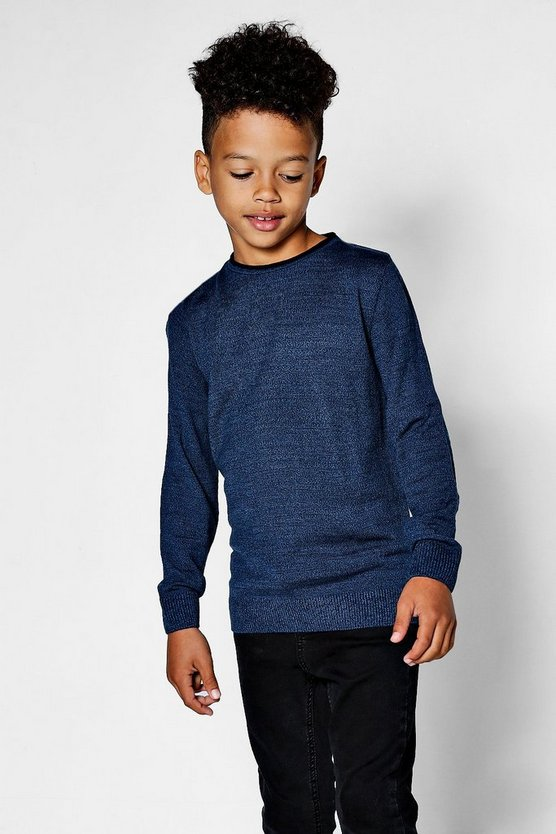 Boys Twist Crew Neck Jumper