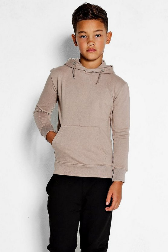 Boys Basic Over The Head Hoodie