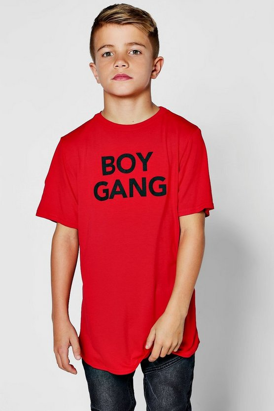 Boys Boy Gang Longline Tee