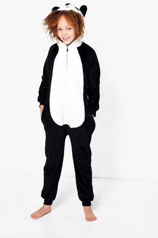 Girls Cuddly Panda Novelty Onesie