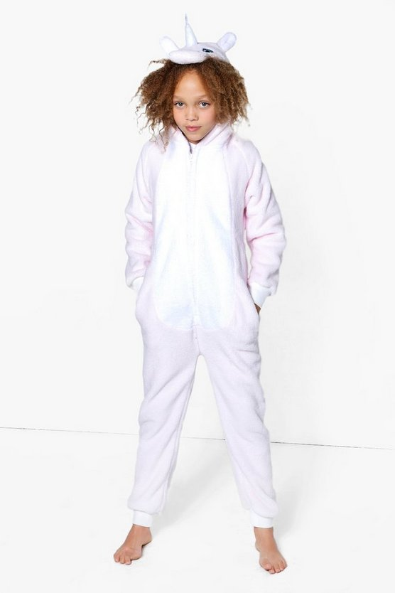 Girls Baby Pink Supersoft Unicorn Onesie
