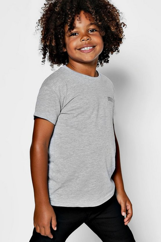 Boys Little Man Logo Print Tee