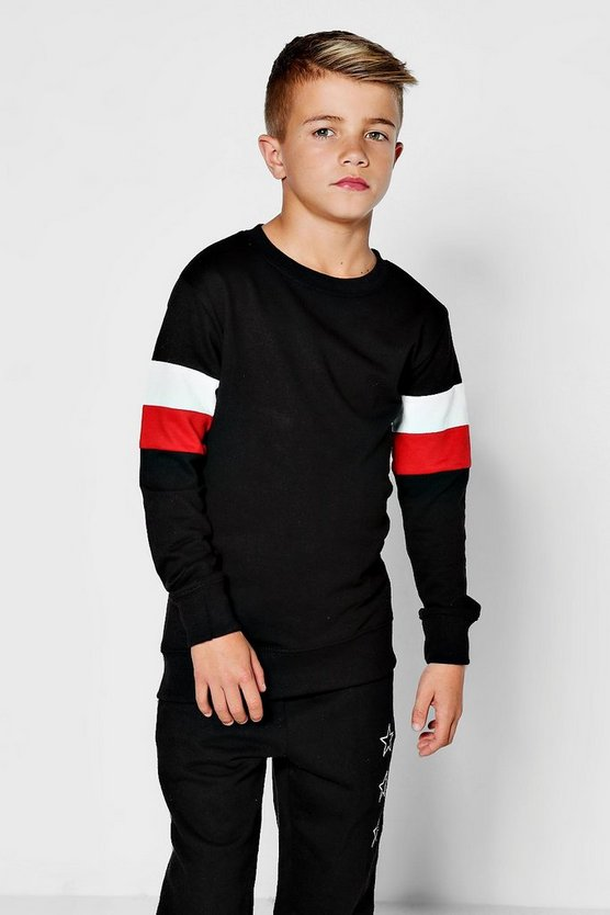 Boys Jersey Panelled Sweatshirt