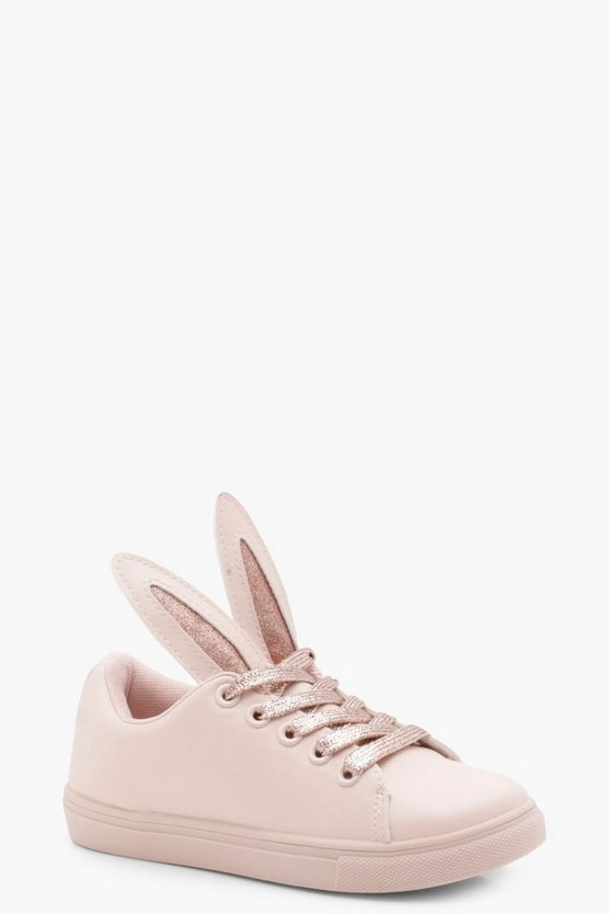 Girls Bunny Ears Lace Up Trainer