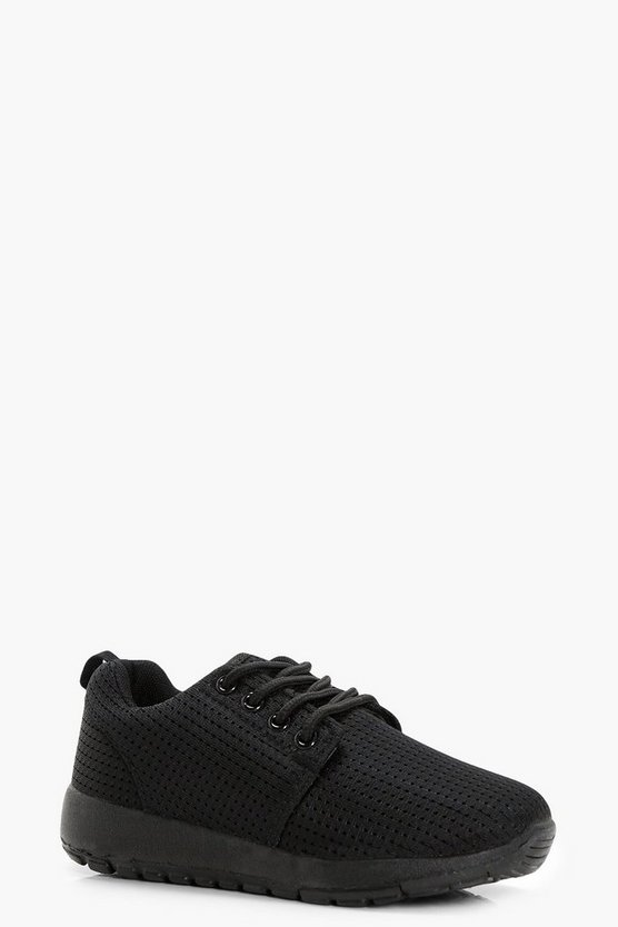 Boys Lace Up Mesh Trainer