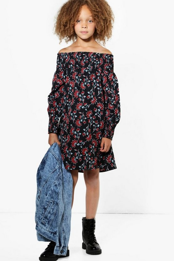 Girls All Over Bardot Ruche Dress
