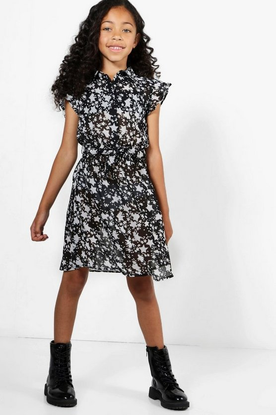 Girls Star Georgette Dress