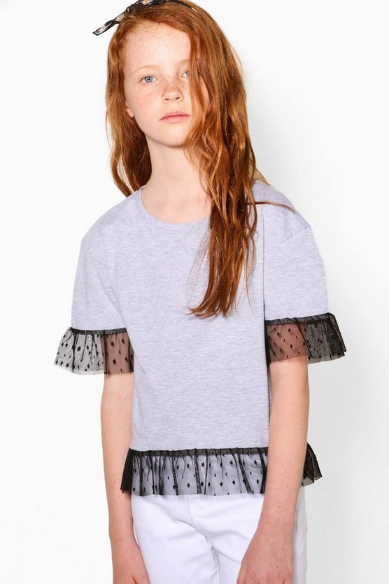Girls Mesh Edge T-Shirt