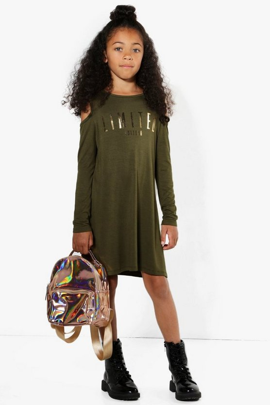 Girls Limited Edition Cold Shoulder Dress