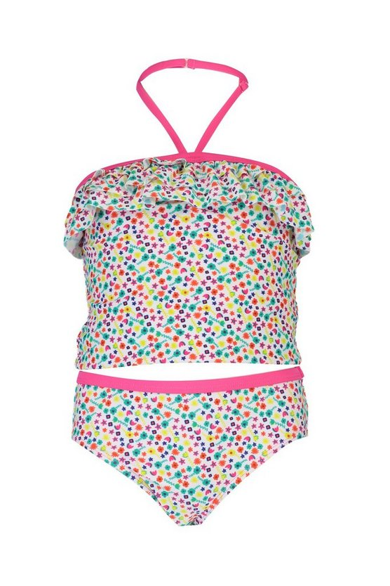 Girls Ditsy Floral Frill Tankini