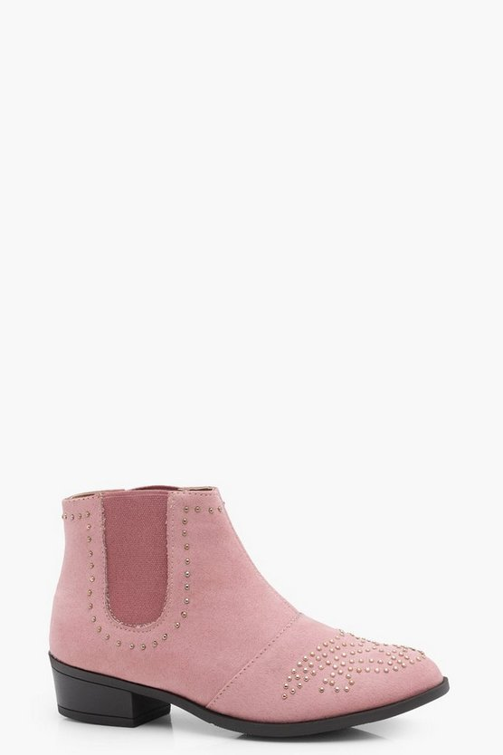 Girls Pin Stud Chelsea Boot