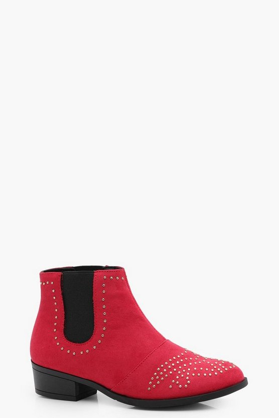 Girls Stud Detail Chelsea Boot