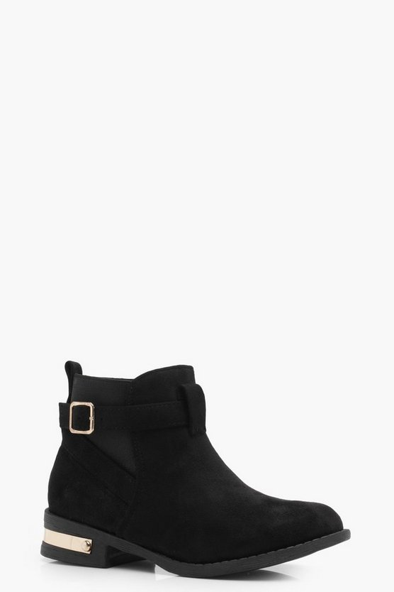 Girls Wrap Strap Chelsea Boot
