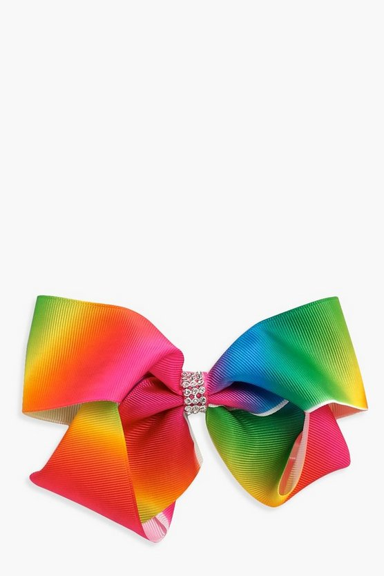 Girls Diamonte Hair Bow