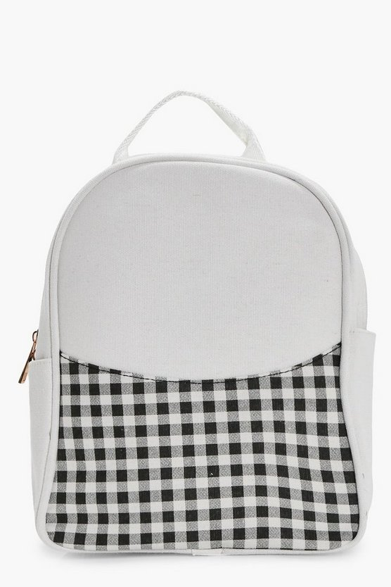 Girls Gingham Rucksack
