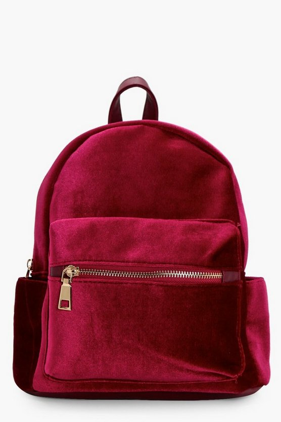 Girls Velour Back Pack