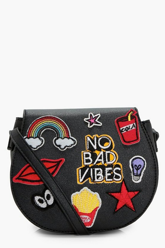 Girls No Bad Vibes Cross Body Bag