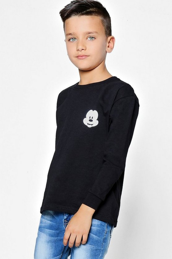 Boys Disney Mickey Long Sleeve Top