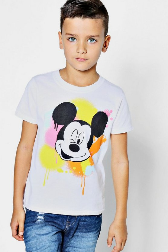 Boys Disney Mickey Graffiti Tee
