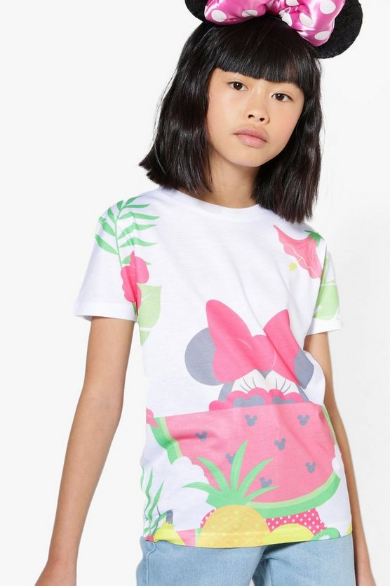 Girls Disney Minnie Watermelon Tee
