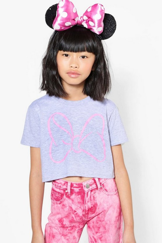 Girls Disney Minnie Bow Crop Top