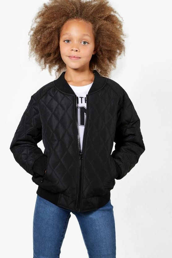 Girls Padded Quilted Bomber