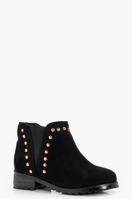Girls Stud Detail Chunky Chelsea Boot