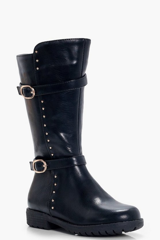 Girls Studded Rider Boots